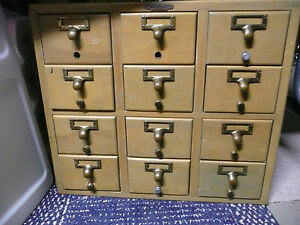 Real Wood Furniture Vintage Remington Rand 12 Drawer