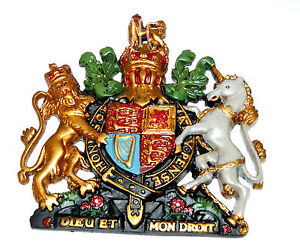 Vintage-Royal-Coat-of-Arms-Wall-Plaque-Antique-Style-Crest-fx-1-x-Pcs-w-Knights
