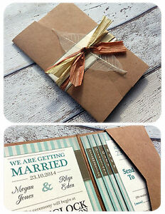 wedding stationery products pocket wallet invitations