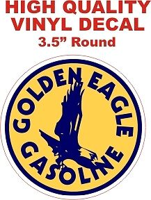 Vintage Style Golden Eagle Gasoline Oil Motor Gas Pump ...