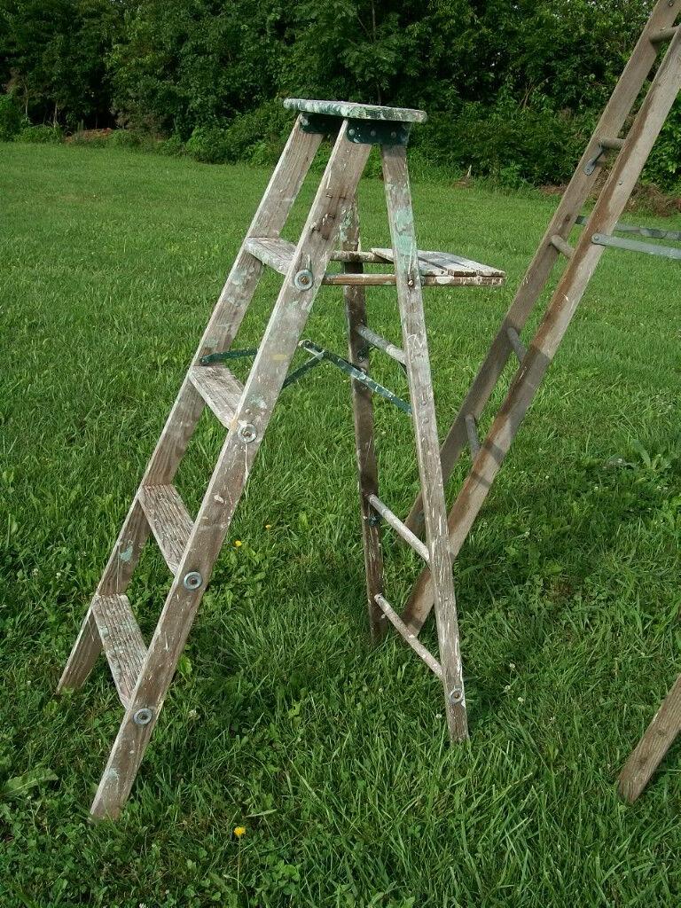 Ladder Vintage Wood Step for sale in Summerfield