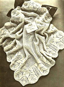 Vintage knitting pattern-how to make this lace baby ...