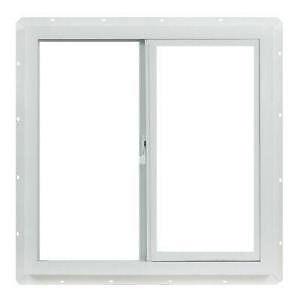 Vinyl Slider Window, 24 in. x 24 in. White with Single Glazed Glass