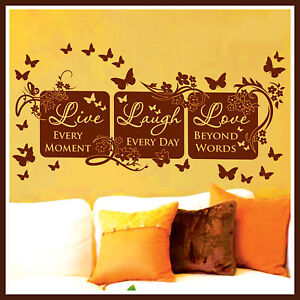 Live Laugh Love Pictures on Vinyl Wall Decor Mural Quote Decal Live Laugh Love 64   Ebay