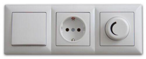 visage 3 fach rahmen f r 3 steckdosen schalter dimmer. Black Bedroom Furniture Sets. Home Design Ideas