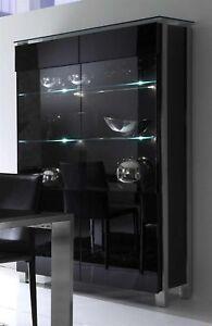 vitrine hochglanz schwarz