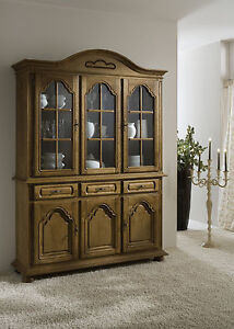 vitrine vitrinenschrank anrichte schrank 6 t rig eiche teilmassiv rustikal p43 ebay. Black Bedroom Furniture Sets. Home Design Ideas