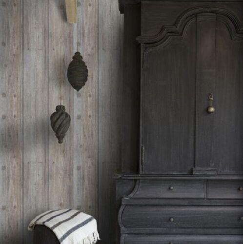 Tapete Holzoptik Rustikal : Vlies Tapete Antik Holz Muster rustikal grau beige / braun grau royal