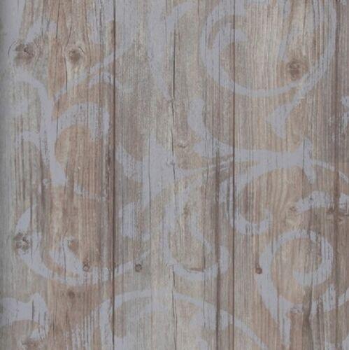 Landhaus Tapete Braun : Vlies Tapete Antik Holz Rustikal Ornament Muster  Barock