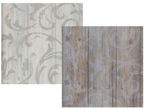 vlies tapete antik holz rustikal ornament muster barock grau beige braun grau ebay. Black Bedroom Furniture Sets. Home Design Ideas