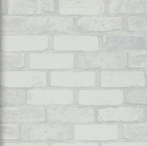 Vlies Tapete Bruchstein Stein Muster Weiss Grau Mauer Weiß Ziegel