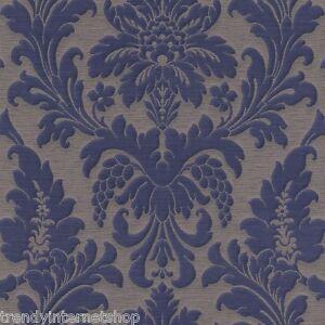 Vlies tapete trianon 513684 rasch barock ornament retro for Tapete ornament blau