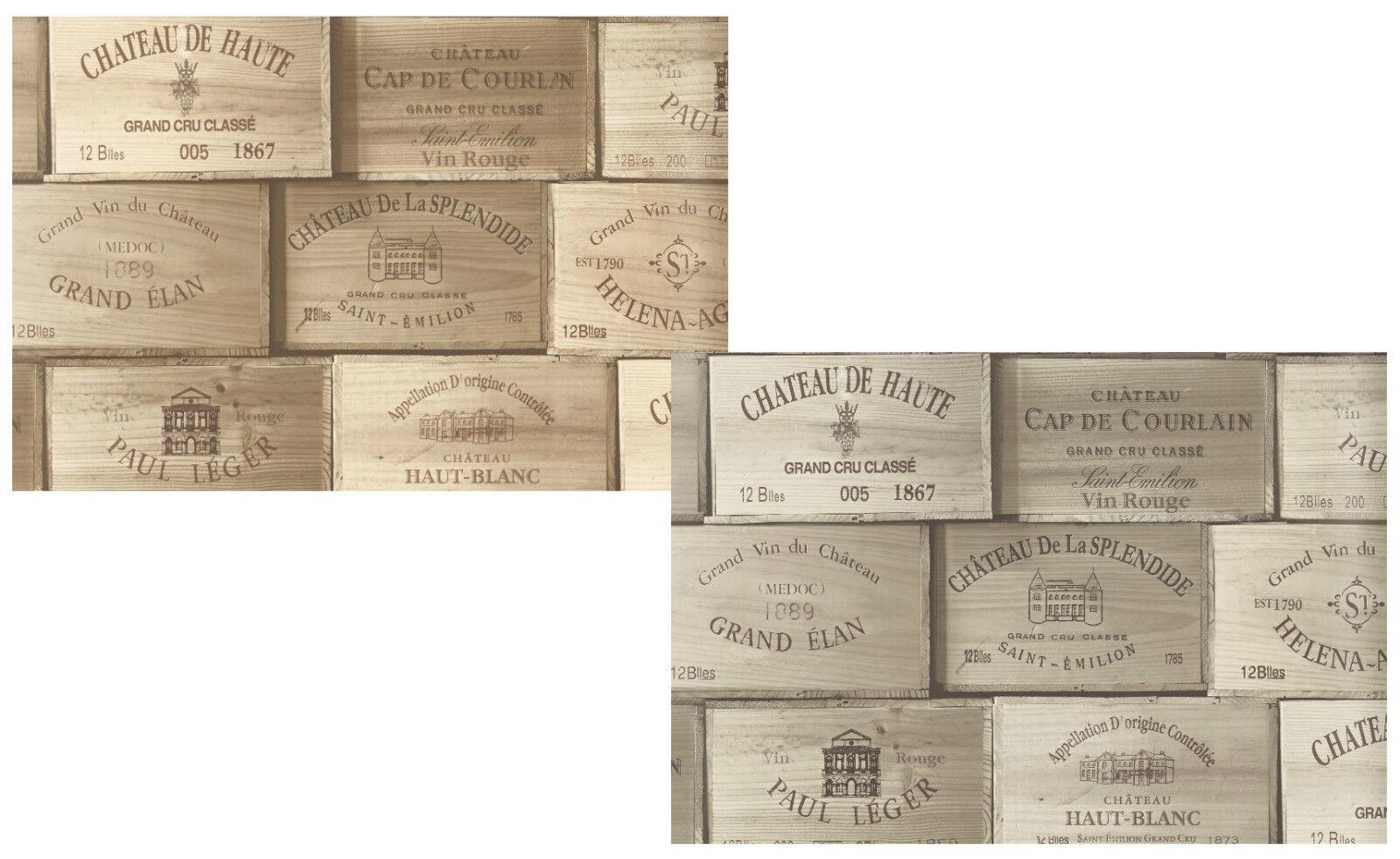 ... : details zu vlies tapete wein kisten muster braun grau holz decor