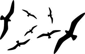 vogel silhouetten fenster glas schutz vogelschreck aufkleber wintergarten ebay. Black Bedroom Furniture Sets. Home Design Ideas