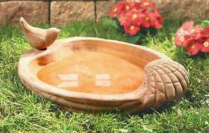 Vogeltr nke terracotta vogelbad tr nke neu gartendeko for Terracotta gartendeko