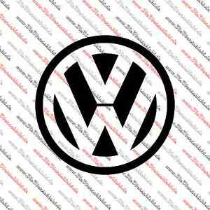 volkswagen logo 10cm durchmesser vw zeichen sticker emblem. Black Bedroom Furniture Sets. Home Design Ideas