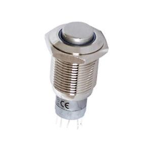 Vollmetall-Taster-Metall-Schliesser-Offner-16-mm-Drucktaster-Loetanschluss-5913