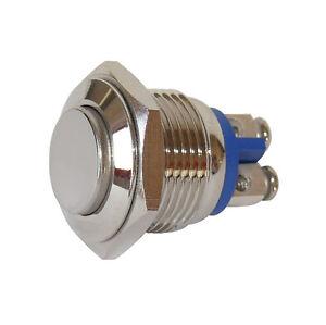 Vollmetall-Taster-Schrauboesen-16-mm-Schliesser-230-V-3-A-Metall-5926