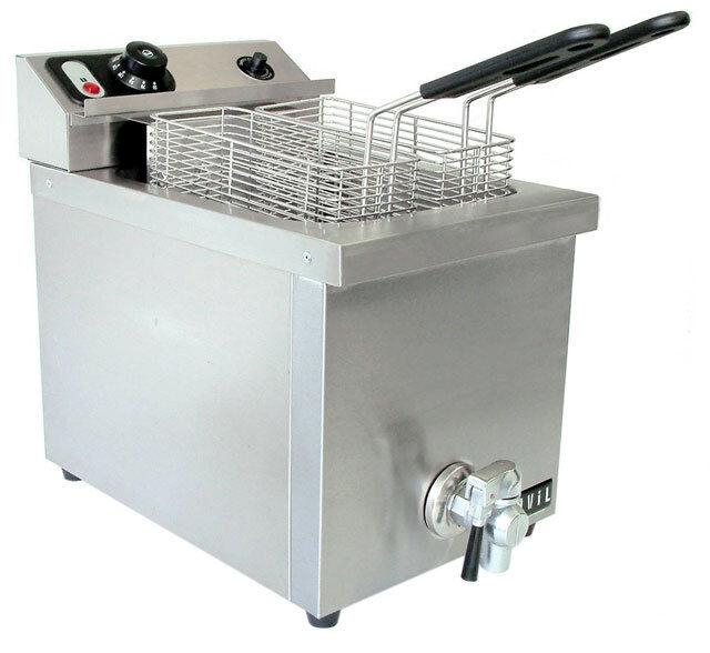 40709 15lb Commercial Electric Deep Fryer 220V 029419718894