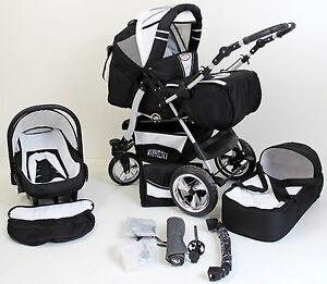 Volver-Kombikinderwagen-Kinderwagen-3in1-mit-Babyschale-Poussette-Pram-child