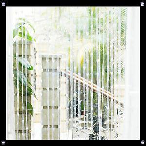 Vorhang gardine t rvorhang fadenstore f den raumteiler deko herzen herz wei ebay - Deko vorhang raumteiler ...