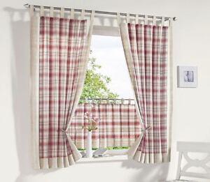 vorhang landhaus meterware panneaux seitenschals gardinen versch h hen neu ebay. Black Bedroom Furniture Sets. Home Design Ideas