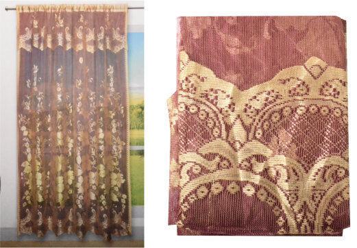 vorhang t rvorhang orientalisch blumen rot gold gardine vorh nge neu ebay. Black Bedroom Furniture Sets. Home Design Ideas
