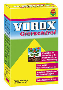 vorox gierschfrei totalherbizid 150ml unkraut herbizid. Black Bedroom Furniture Sets. Home Design Ideas