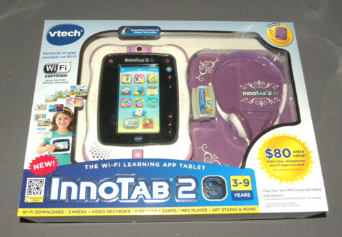 Vtech Innotab 2S Purple Tablet Bundle w Case, Headphones + 17 Apps Wi-Fi NEW in Toys & Hobbies, Educational, Learning Systems | eBay