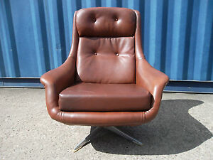 Vtg 60s 70s retro modernist space age atomic era egg style for 70s egg chair