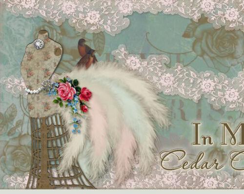 Vtg Chic Victorian Shabby Paris Manniquin Birds Roses Ebay Auction Template IMCC in Everything Else, eBay User Tools | eBay