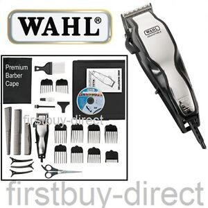 wahl chrome pro hair beard clipper trimmer 25 set cord haircutting machine kit ebay. Black Bedroom Furniture Sets. Home Design Ideas
