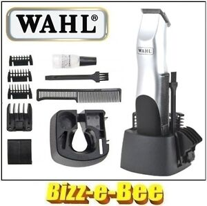wahl groomsman cordless grooming kit 9906 1717 body hair beard clipper trimmer ebay. Black Bedroom Furniture Sets. Home Design Ideas