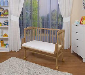 WALDIN-Baby-Beistellbett-Wiege-Babybett-mit-Matratze-hoehenverstellbar
