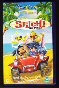 Where Can I Sell My Vhs Tapes >> WALT DISNEY - STITCH! THE MOVIE - VHS PAL (UK) VIDEO | eBay