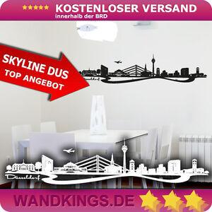 WANDKINGS-Wandtattoo-Skyline-Duesseldorf-Rhein-NRW-Groesse-Farbe-waehlbar
