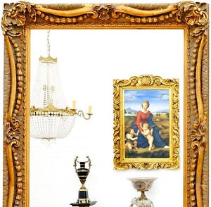 wandspiegel gross antik gold rahmen spiegel lang luxus wandspiegel ebay. Black Bedroom Furniture Sets. Home Design Ideas