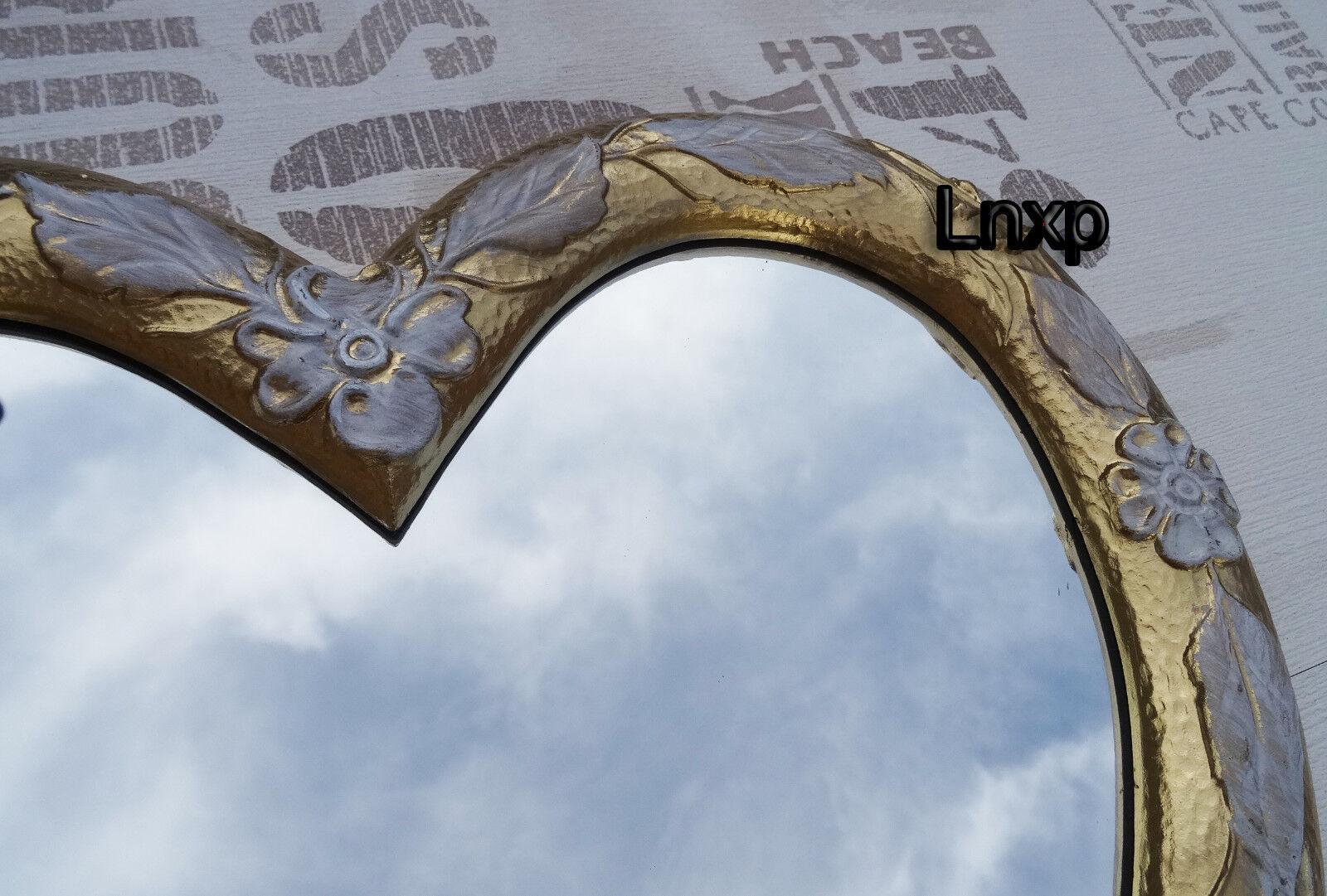 Specchio muro cuore forma di barocco shabby retr oro bianco regalo amore 1 ebay - Specchio a cuore ...