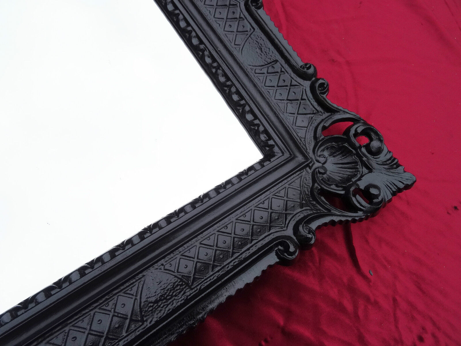 Wall mirror black antique baroque rococo 90x70 cm for Miroir 90 x 70