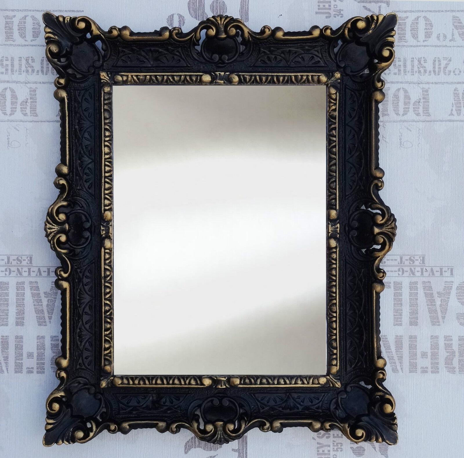 wall mirror black gold antique baroque bath floor mirror vanity mirror 56x46 ebay. Black Bedroom Furniture Sets. Home Design Ideas