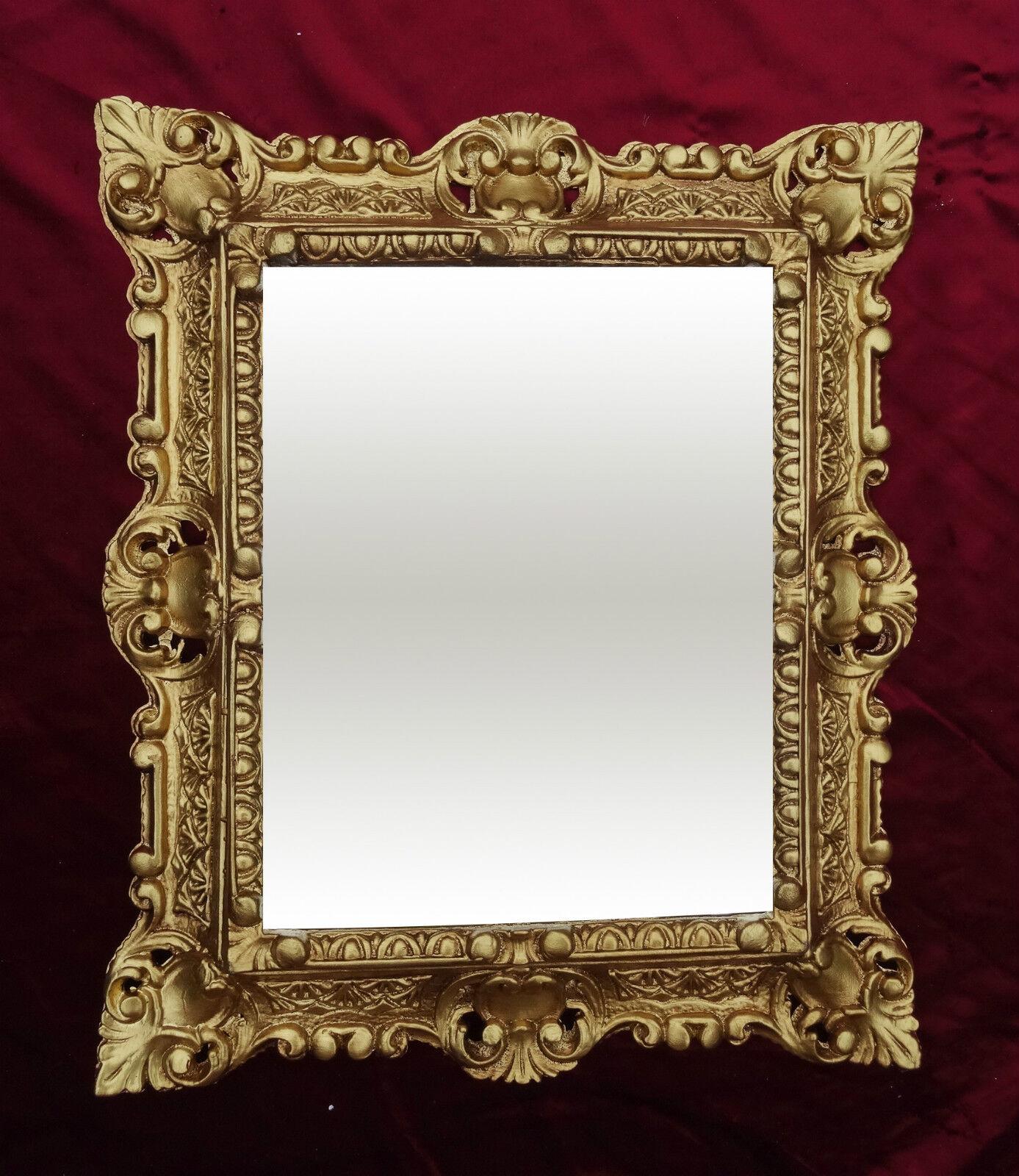 Wall mirror 45x38cm antique baroque replicate rectangular for Rectangular baroque mirror