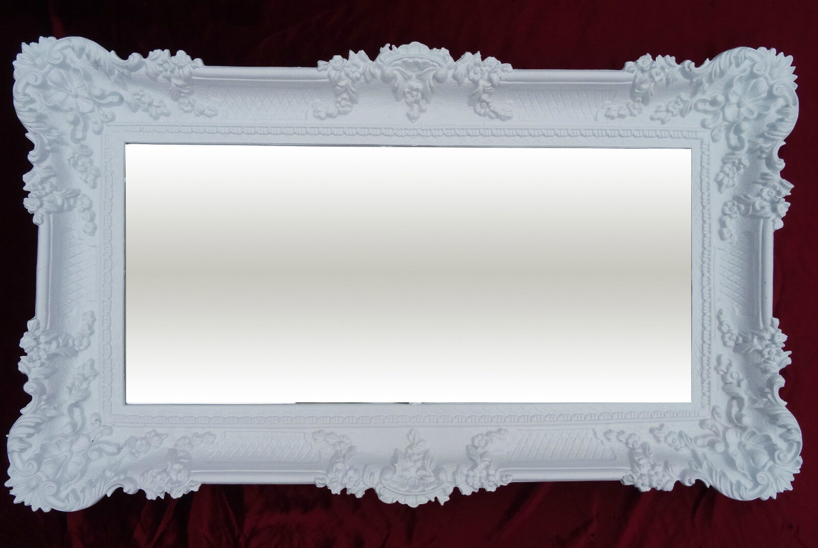 xxl wall mirror white 96x57 antique baroque shabby chic. Black Bedroom Furniture Sets. Home Design Ideas