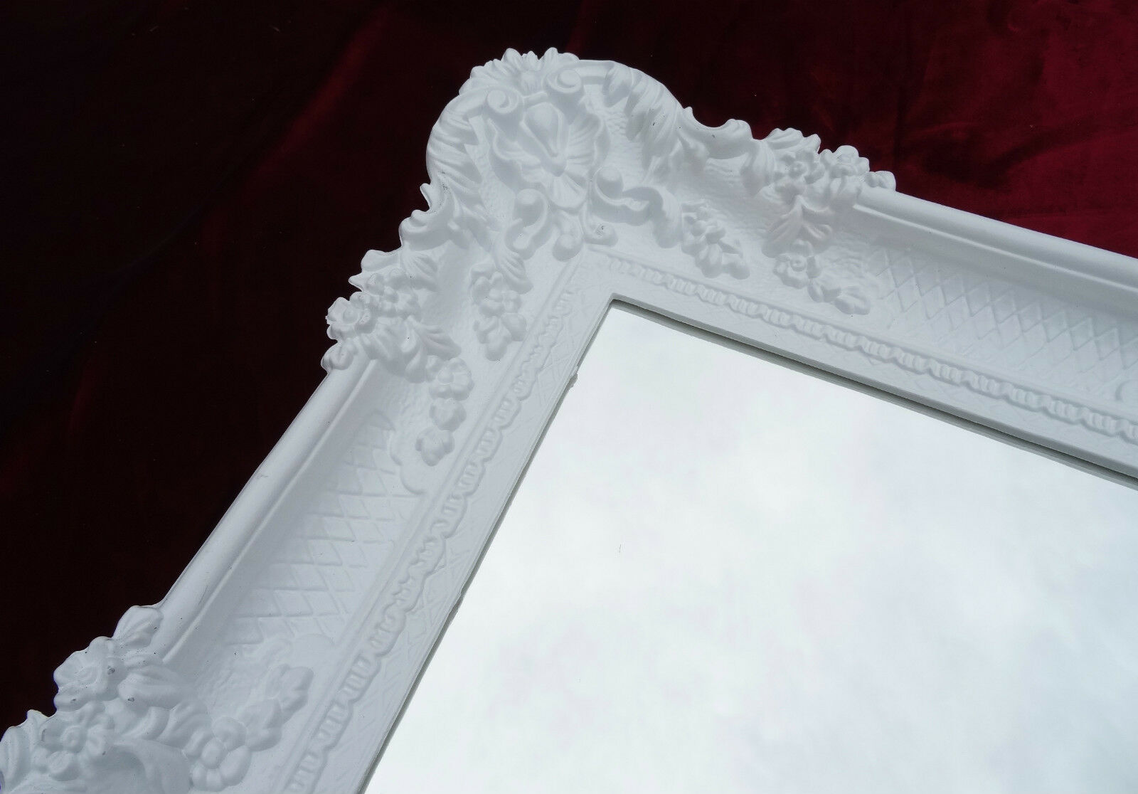 xxl wall mirror white 96x57 antique baroque shabby chic floor make up ebay. Black Bedroom Furniture Sets. Home Design Ideas