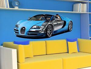 wandtattoo bugatti veyron sportwagen aufkleber wandaufkleber f r kinder ebay. Black Bedroom Furniture Sets. Home Design Ideas