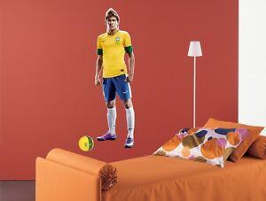 wandtattoo fu ball fu baller neymar brasilien fifa wand aufkleber kinderzimmer ebay. Black Bedroom Furniture Sets. Home Design Ideas