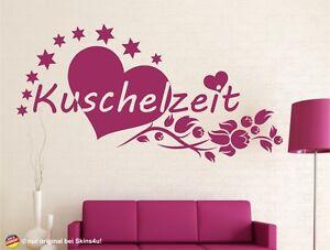 WANDTATTOO-Herz-Liebe-Ranke-Kuschelzeit-Wandaufkleber-Schlafzimmer