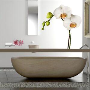 wandtattoo orchidee wei e blume wohnzimmer bad. Black Bedroom Furniture Sets. Home Design Ideas