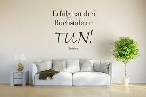 wandtattoo w014 spruch goethe erfolg hat drei buchstaben. Black Bedroom Furniture Sets. Home Design Ideas