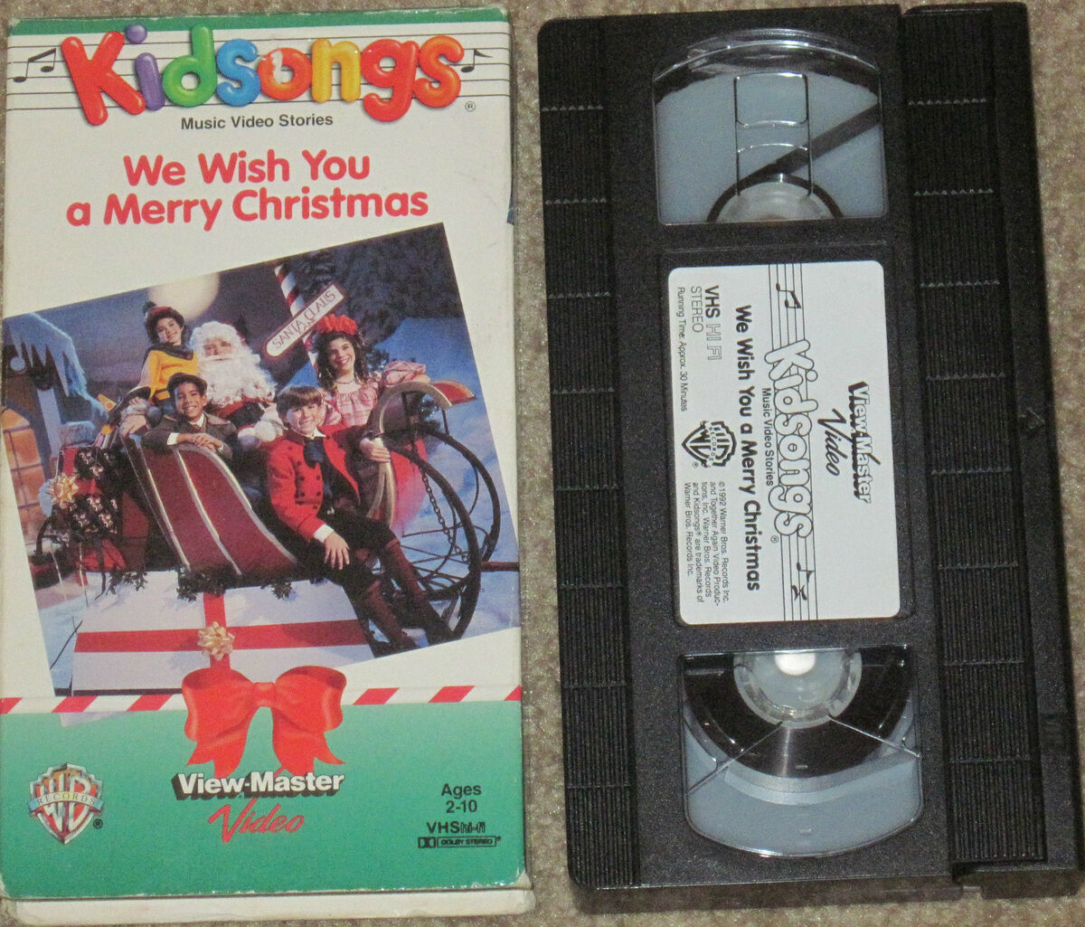 wb viewmaster kidsongs vhs we wish you a merry christmas live kids - Kidsongs We Wish You A Merry Christmas