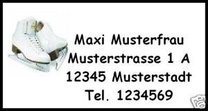 WE170-40-Adressetiketten-Schlittschuhe-Aufkleber-Brief-Adressaufkleber